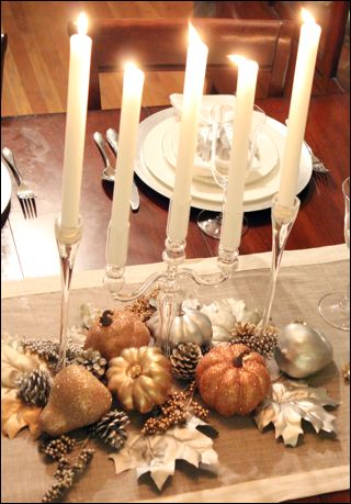 Blog chicago interior design meg b frank interiors for Thanksgiving centerpieces with candles